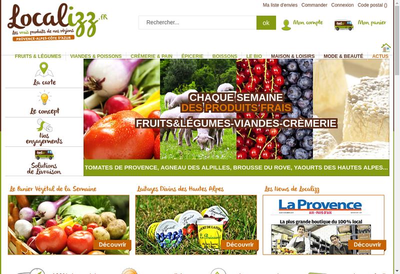 Capture d'écran du site de Localizz