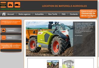 Site internet de Locatech Agri Ouest