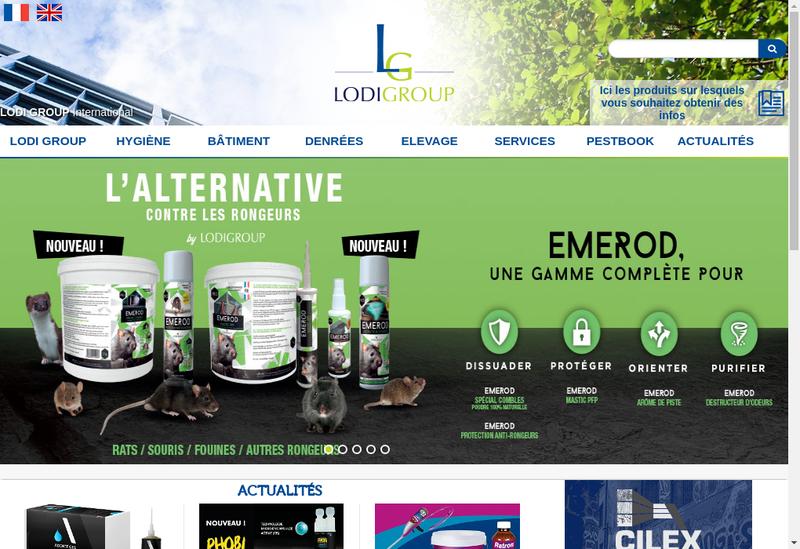 Capture d'écran du site de LODI