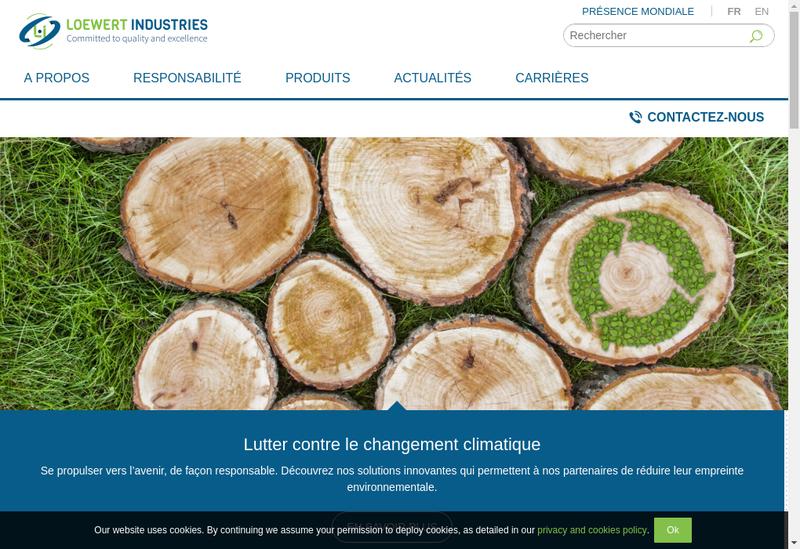 Capture d'écran du site de Loewert Industries