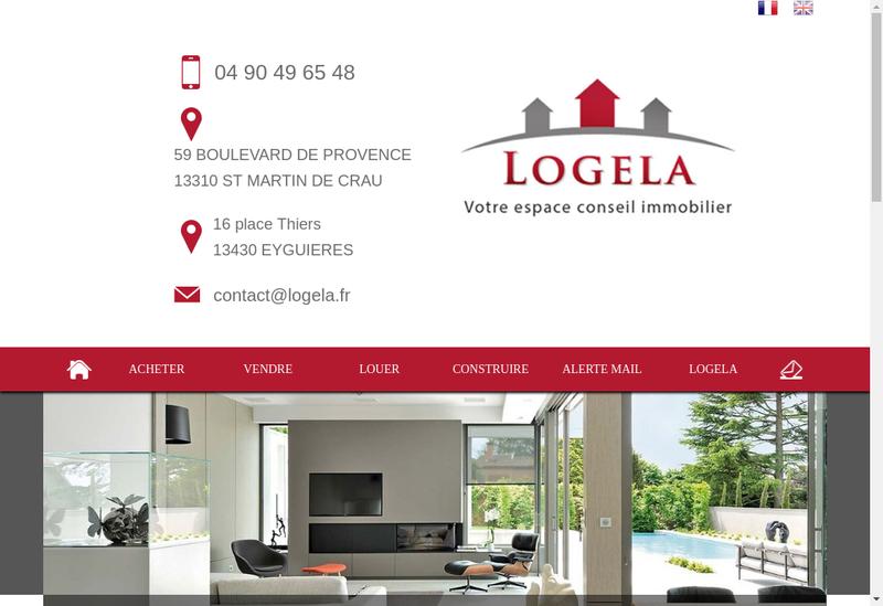 Capture d'écran du site de Logela