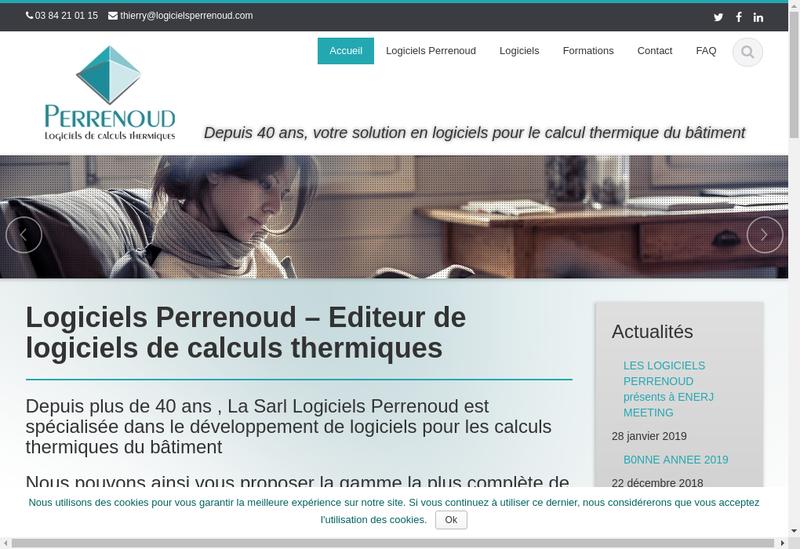 Capture d'écran du site de Logiciels Claude Perrenoud SARL