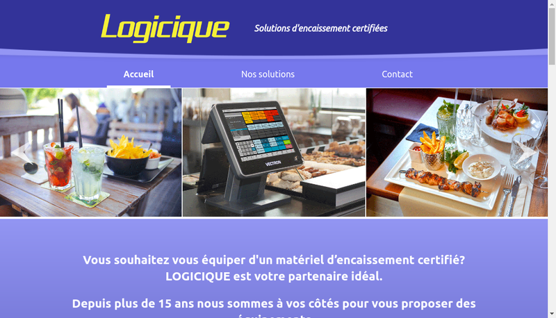 Capture d'écran du site de Logicique