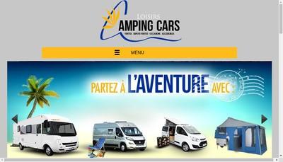 Site internet de Loisirs Camping Cars SAS