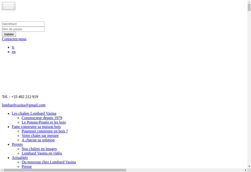 Capture d'écran du site de Lombard et Vasina