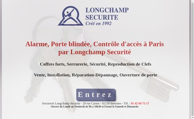 Site internet de Longchamp Securite