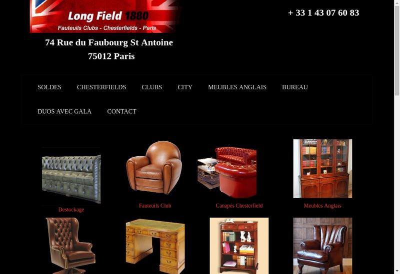 Capture d'écran du site de Longfield 1880