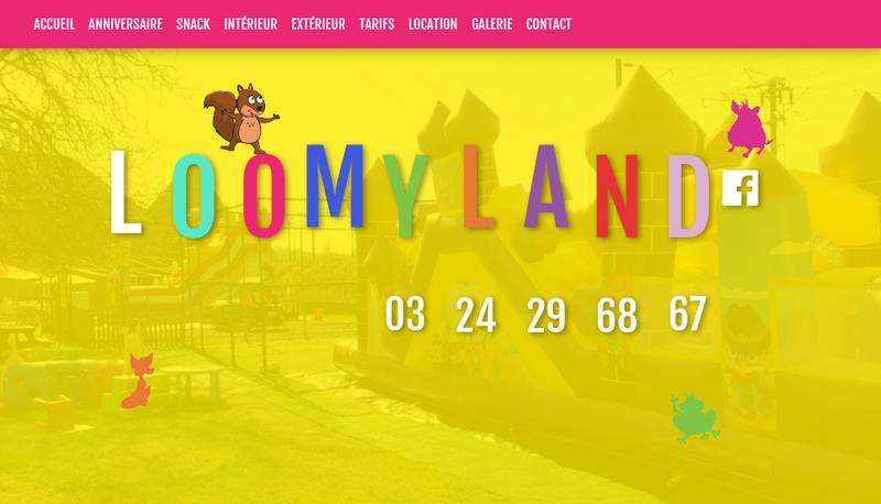 Capture d'écran du site de Loomy Land