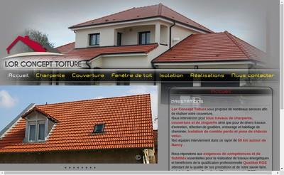 Site internet de Lor Concept Toiture
