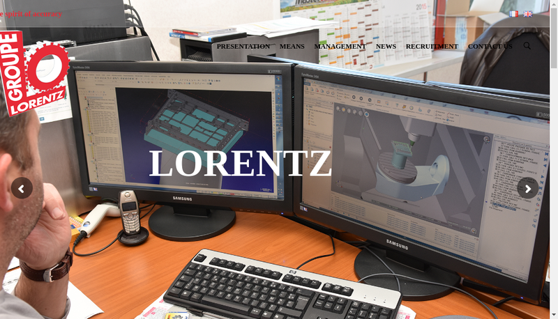 Capture d'écran du site de Groupe Lorentz
