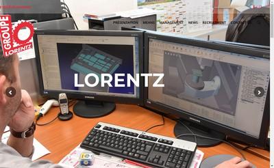 Site internet de Groupe Lorentz