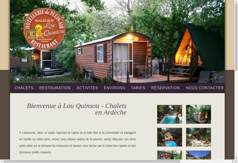 Capture d'écran du site de Lou-Quinsou