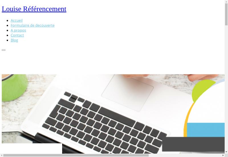 Capture d'écran du site de Celine Louis-Zabeth