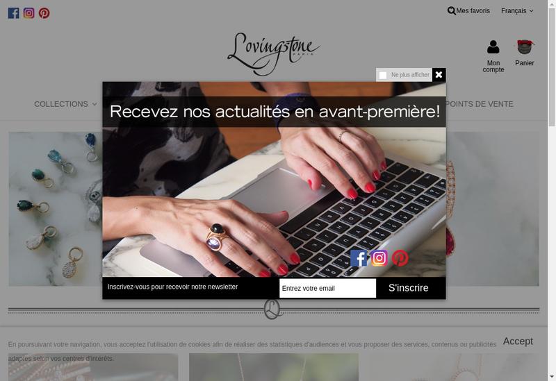 Capture d'écran du site de Lovingstone Paris