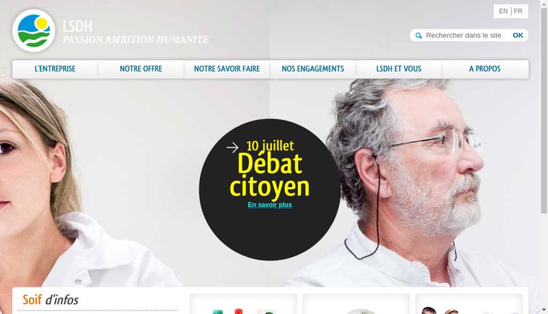 Capture d'écran du site de Laiterie de Varennes