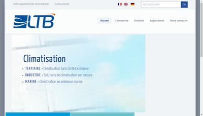 Site internet de La Thermodynamique de Bretagne