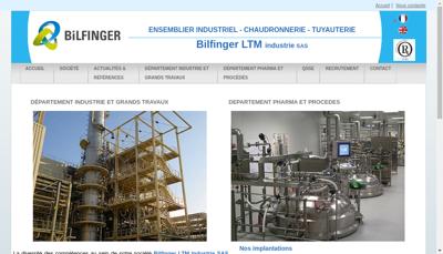 Capture d'écran du site de LTM