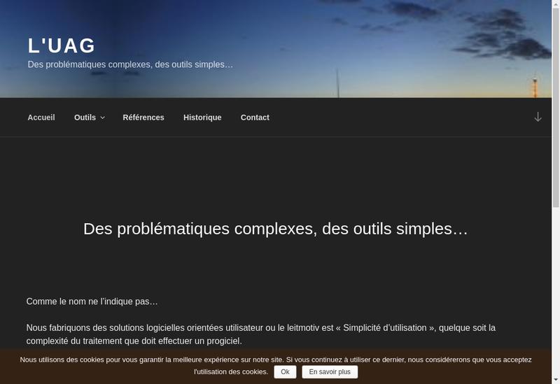 Capture d'écran du site de L'Usinagaz