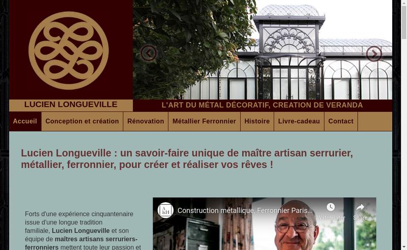Capture d'écran du site de Lucien Longueville