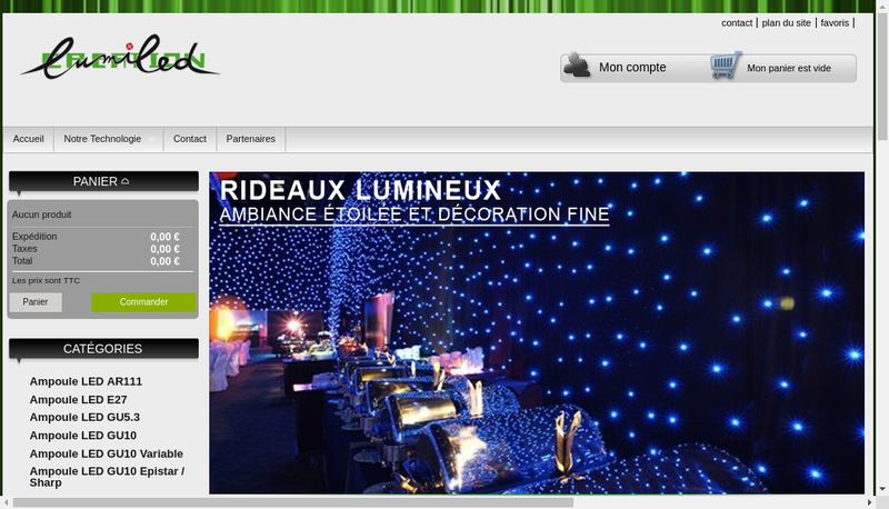 Capture d'écran du site de Lumiled-Creation