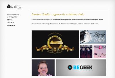 Capture d'écran du site de Lumino Studio SARL