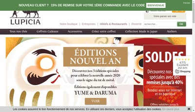 Site internet de Lupicia France