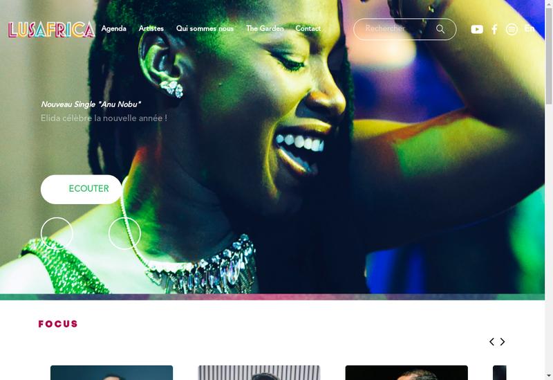 Capture d'écran du site de Lusafrica