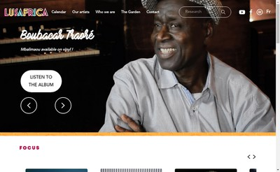 Site internet de Lusafrica