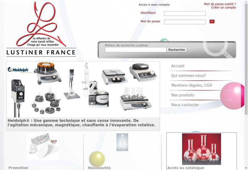 Capture d'écran du site de Lustiner France