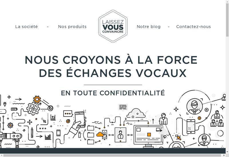 Capture d'écran du site de Lvci SAS - Laissez Vous Convaincre Inc