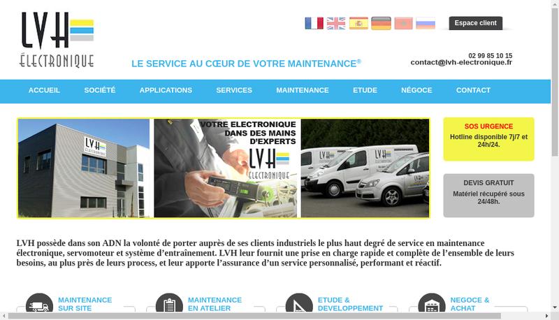 Capture d'écran du site de LOH Electronique