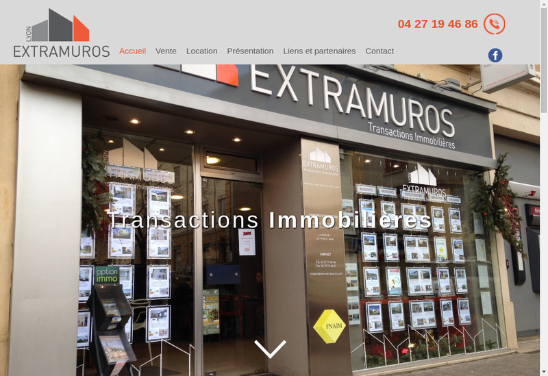 Capture d'écran du site de Lyon Extramuros