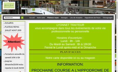 Site internet de Lyonnet Traiteur
