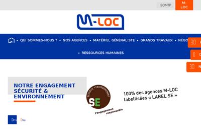 Capture d'écran du site de M Loc