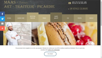 Site internet de Maas Traiteur