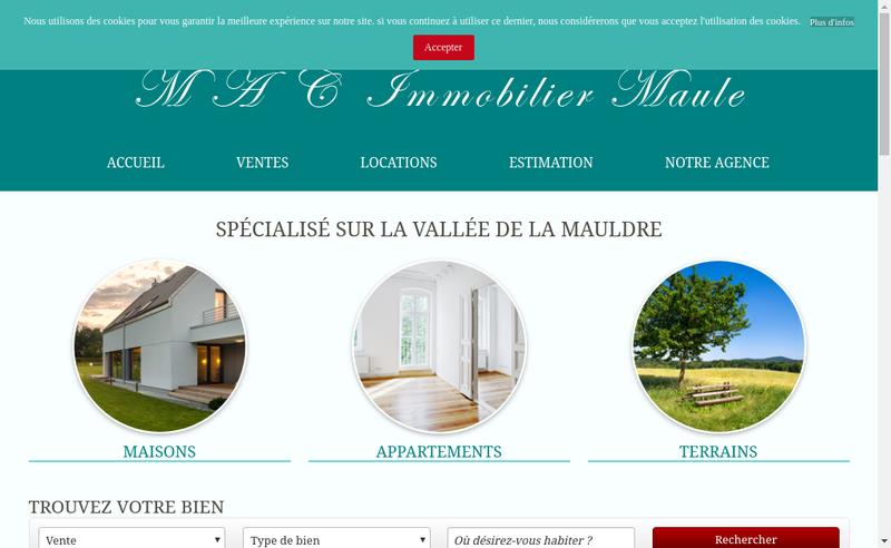 Capture d'écran du site de Mac Immobilier Maule