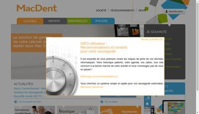 Site internet de Dentalvia-Medilor