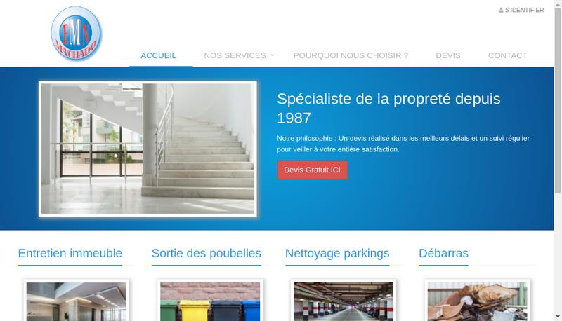 Capture d'écran du site de Machado
