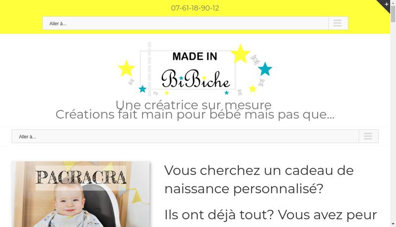 Capture d'écran du site de Made In Bibiche