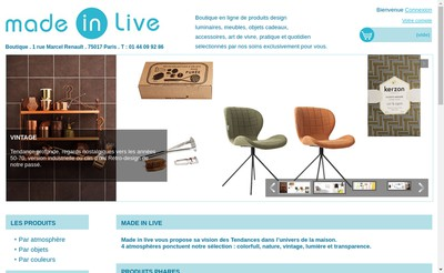 Site internet de Made In Live