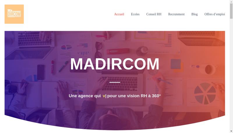 Capture d'écran du site de MADIRCOM