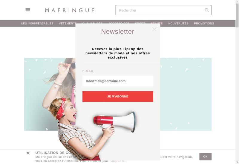Capture d'écran du site de Ma Fringue