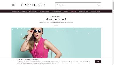 Site internet de Ma Fringue