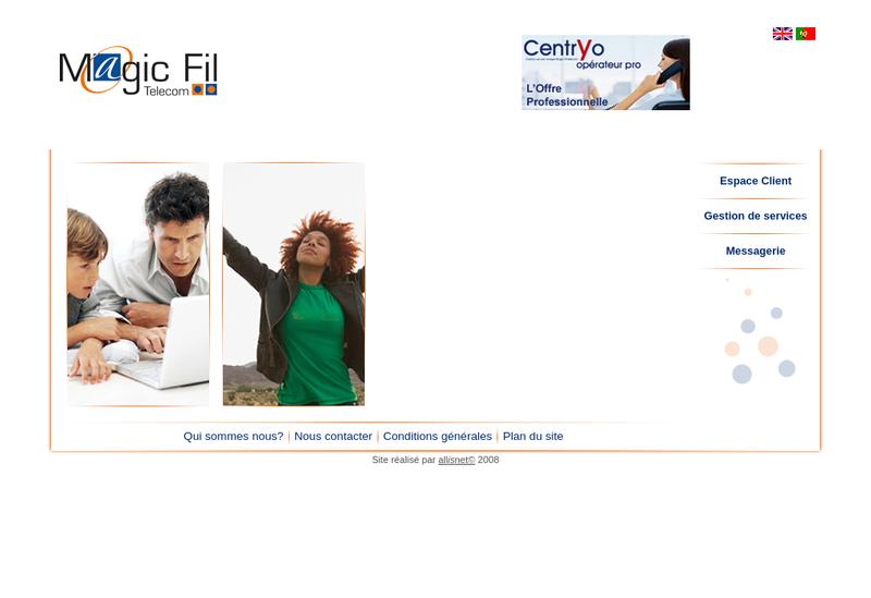 Capture d'écran du site de Magic Fil Telecom SAS