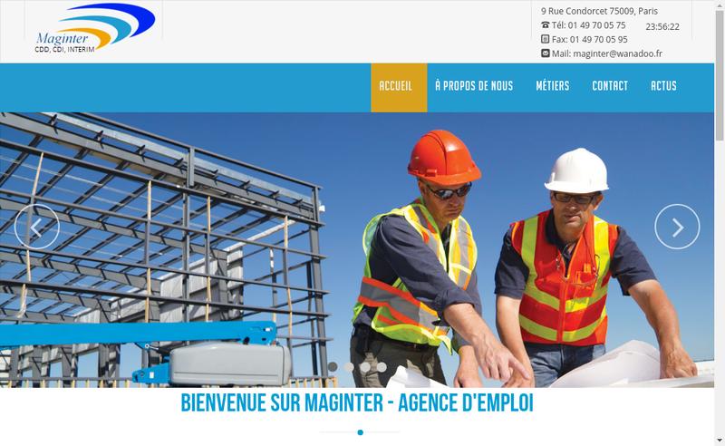 Capture d'écran du site de Maginter