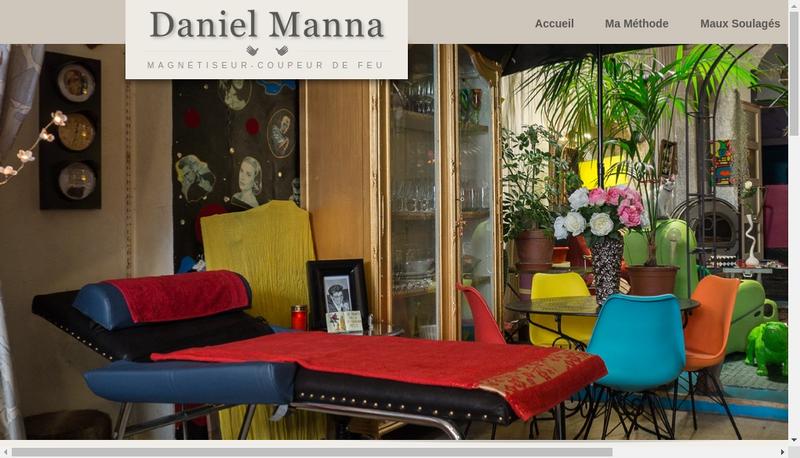 Capture d'écran du site de Daniel Manna
