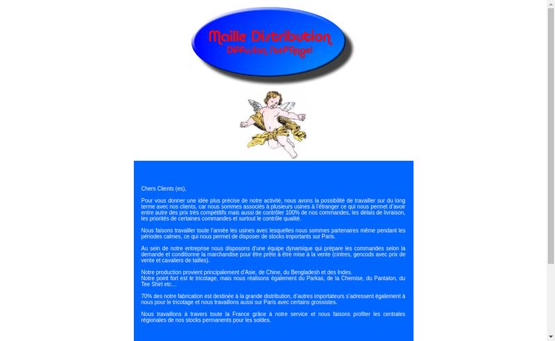 Capture d'écran du site de Maille Distrib Diffus Stefangel