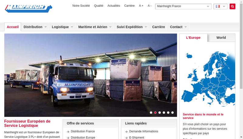 Capture d'écran du site de Carotrans