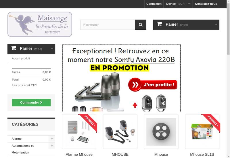 Capture d'écran du site de Maisange