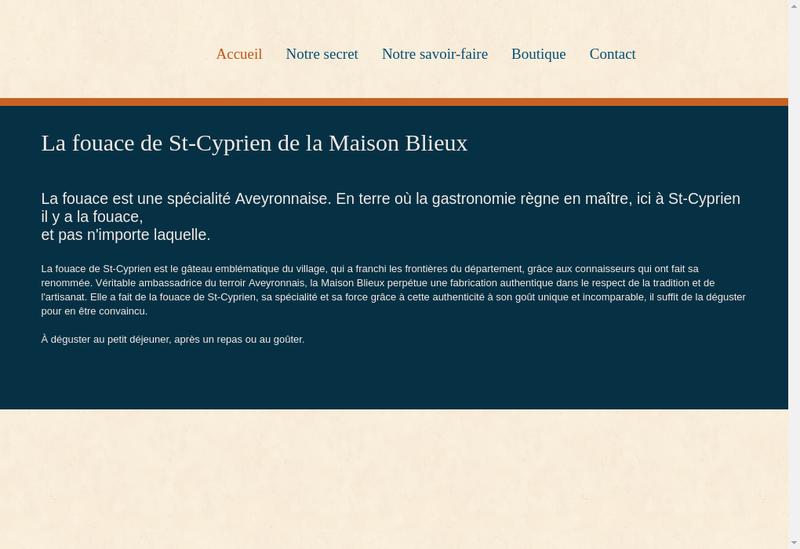 Capture d'écran du site de Maison Blieux